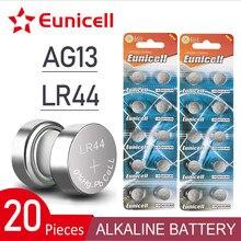 Euunicell – lot de 20 piles boutons, 2020 mAh, 155 V, AG13, LR44, pour horloge, jouets, GP76, L1154, LR1154, SR1154, SR44, SR44SW, SR44W, nouveauté 1.5