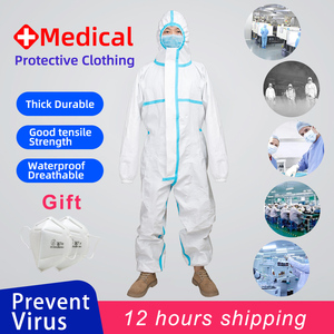 Prevent Covid-19 One time Medical Protective Clothing Anti Virus Dust Cloth Protective Coverall Medical protective equipment