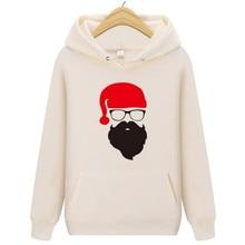 Fashion new men's long-sleeved hoodie Santa Claus Christmas custom printed sweatshirt men and women casual brand clothing hoodie santa claus 3d printed christmas sweatshirt