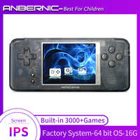 Nuevo RS97 IPS Retro games videojuegos consola emuladores mando de juegos 3000 juegos niños regalo consola retro tv juego 64Bit