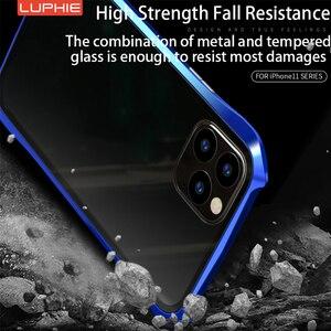 Image 4 - מקורי Luphie 360 מלא מגנטי מקרה עבור iPhone 11 פרו מקסימום 9 שעתי מזג זכוכית נייד טלפון כיסוי עבור iPhone 11 מקרי פרו