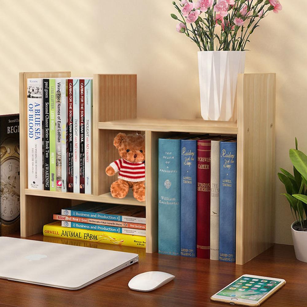 Schreibtisch Lagerung Organizer Einstellbare Desktop Display Regal Rack Mehrzweck Bücherregal für Büro Küche - 3