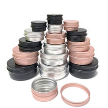 100Pcs Cosmetic Container 5/10/15/20/30/50/60g Aluminum Pot Jar With Lid Eye Cream Hair Conditioner Tin Jar Pot Cosmetic Metal