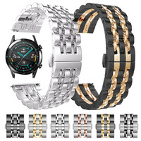 Roestvrij Stalen Band Voor Huawei Horloge Gt 2 46Mm 42Mm GT2 Pro Band Armband Voor Honor Magic Es 20Mm 22Mm Metalen Pols Horlogebanden