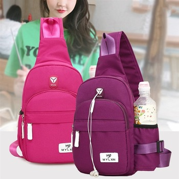New fashion simple ladies travel backpack Korean version of the tide wild chest bag nylon wholesale