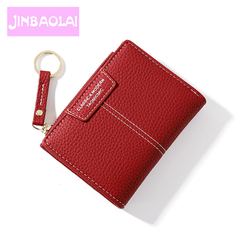 Women Wallet PU Leather Female Purse Mini Hasp Solid Multi-Cards Holder Fashion Coin Short Wallets Slim Small Wallet Zipper Hasp