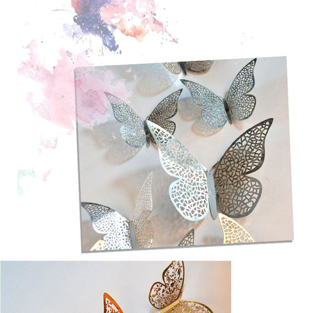 Crystal Butterfly Wall Stickers 12pc 3D Effect 6