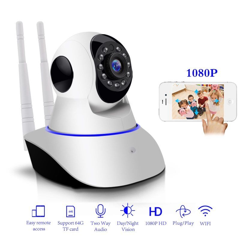 2MP HD 1080P PTZ Wifi IP Camera IR-Cut Night Vision Two Way Audio CCTV Surveillance Smart 720P IP Camera SD Card View Yoosee APP