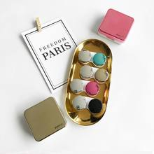 Estuche para gafas de contacto con tapa reflectora para mujer, estuche para lentes de contacto de Color Espejo, contenedor de viaje bonito