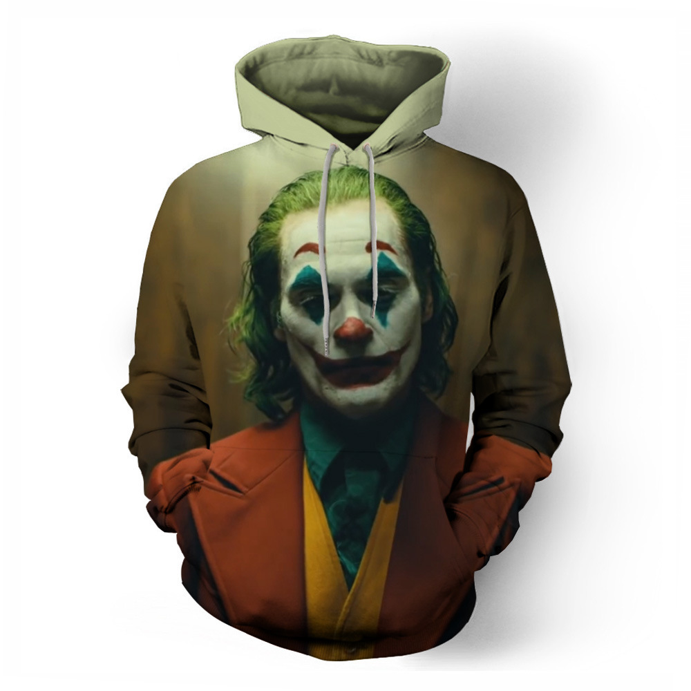 Movie Joker 2019 Cosplay Hoodie Printed Batman The Dark Knight Clown Costume 3D Hooded Sweatshirts Tops