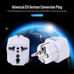 1PC AC 250V 10A EU Plug EU Power Conversion Europe Power Plug Converter Socket Travel Socket Outlet Adapter Socket Universal