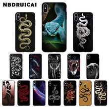 NBDRUICAI Hand animal Snake Flower Pattern Soft Silicone Phone Case Cover for iPhone 11pro XS MAX 8 7 6 6S PlusX 5 5S SE XR case(China)