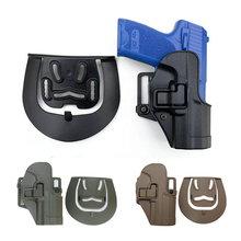 Hunting Tactical Gun Holster for HK USP Compact Airsoft Right Hand Pistol Paddle Belt Holster Military Combat Shoot Handgun Case tactical gun carry military combat sig sauer p226 pistol leg holster hunting equipment right hand pistol thigh holster 3 colors