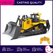Huina 1:16 rc caminhão pesado bulldozer caterpillar liga trator modelo de engenharia carro escavadeira rádio carro controlado brinquedos para meninos