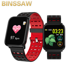 BINSSAW 2020 New T6 Smart Watch Fitness Tracke Band IP68 Waterproof Smart watch Men Women Clock for iPhone IOS  Android Phone