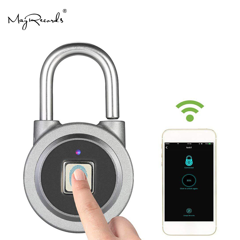 P2 Smart Bluetooth Fingerprint Lock Fingerprint Recognition Phone Unlock APP Management USB Rechargeable Electronic Lock