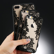 USLION Sexy Floral Phone Case For Apple iPhone 7 8 6 6s 5 5s SE Plus