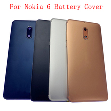 Original Back Battery Cover Rear Door Panel Housing For Nokia 6 Battery Cover with Camera Lens Replacement Part