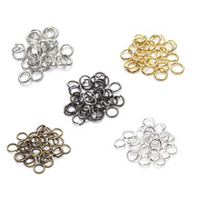 цена на 200pcs/lot 4/6/7/8/9/10mm Open Jump Rings Open Single Loops Necklace Bracelet Connector Supplies for DIY Jewelry Making Findings