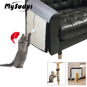 MySudui Anti Cat Scratch Protector Sofa Pad Cat Scratching Post Sisal Cat Nail Scratcher Guard Mat Furniture Rascador Para Gato