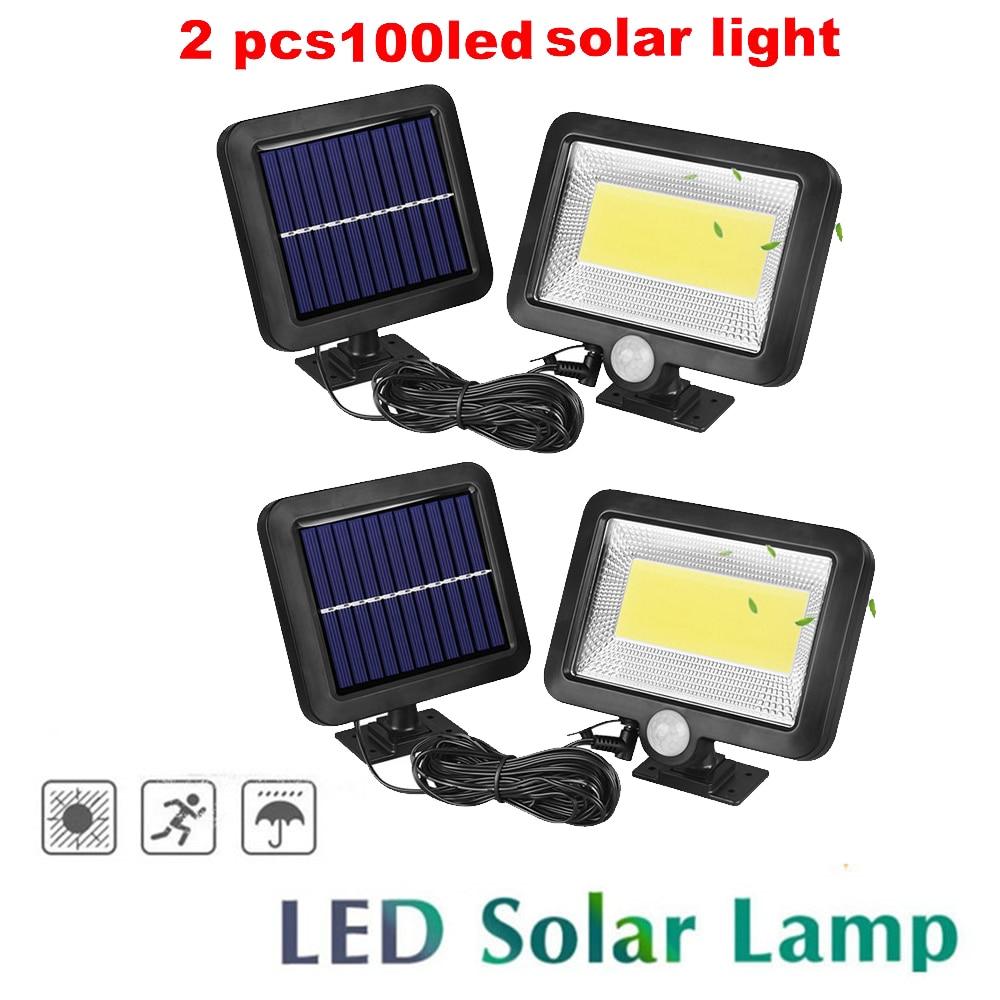 2/4pcs Upgraded 100/56/30 Leds LED Solar Power Street Light PIR Motion Sensor Lamps With Controller Waterproof Outdoor Lamp Spli