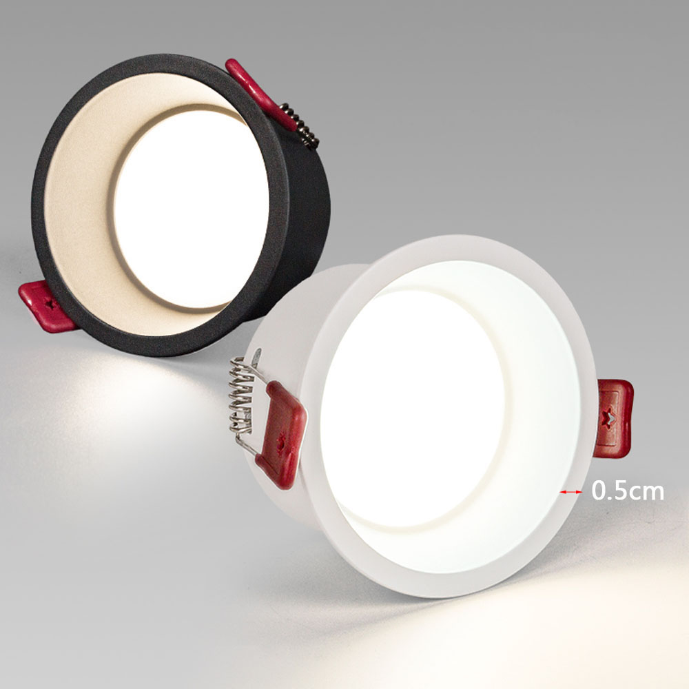 Deep anti-glare LED Downlight 5W 9W 12W 15W 20W Recessed dimmable Round LED Ceiling Lamp Indoor Lighting Background wall lights