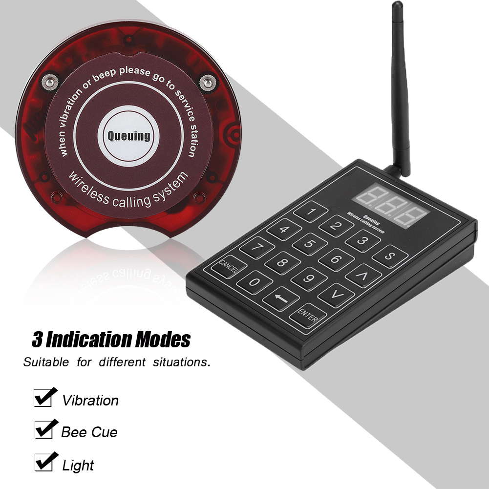 Top Sale╓Calling Queuing Equipment Restaurant Wireless Waiter Calling System Waiter Pager Call√