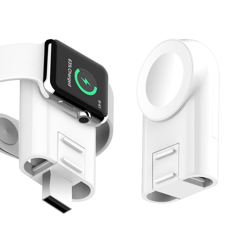 White USB Smart Watch Charger For IWatch 1/2/3/4 Portable Smart Watch Charging Base For IWatch For Apple Watch For Smart Watch magnetic attraction bluetooth earphone headset waterproof sports 4.2