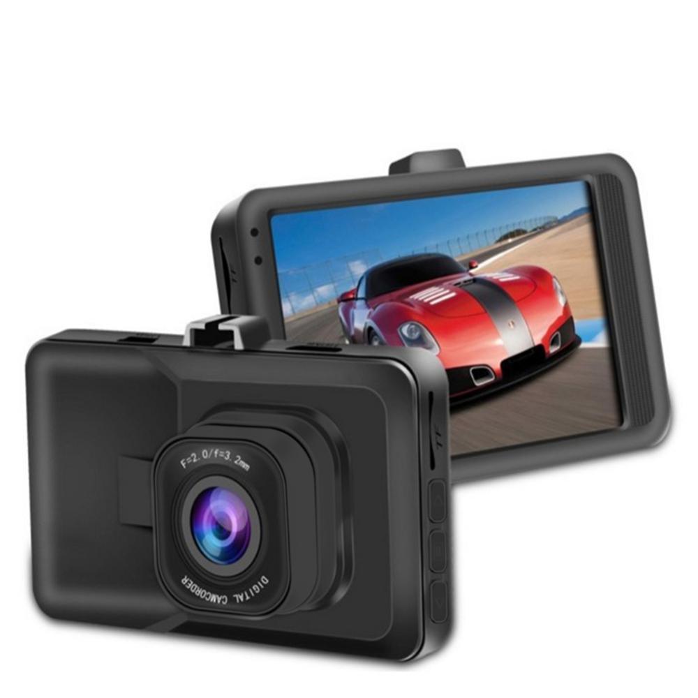 Traço cam 1080 p dvr dashboard câmera completa hd 3 lcd 170 grande angular wdr g-sensor de detecção de movimento de gravação de loop