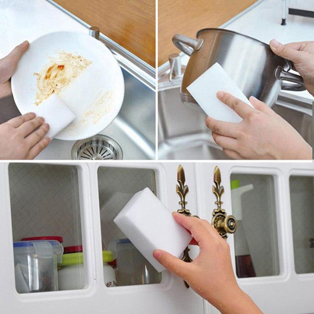 50 шт./лот из волшебного спонжа, мульти-функциональное Очищение меламиновая губка для кухни, ванной, аксессуары для уборки