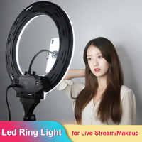 14 pouces 35cm photographie LED Selfie anneau lumière Photo Studio caméra lumière avec support pour téléphone trépied support pour maquillage vidéo en direct
