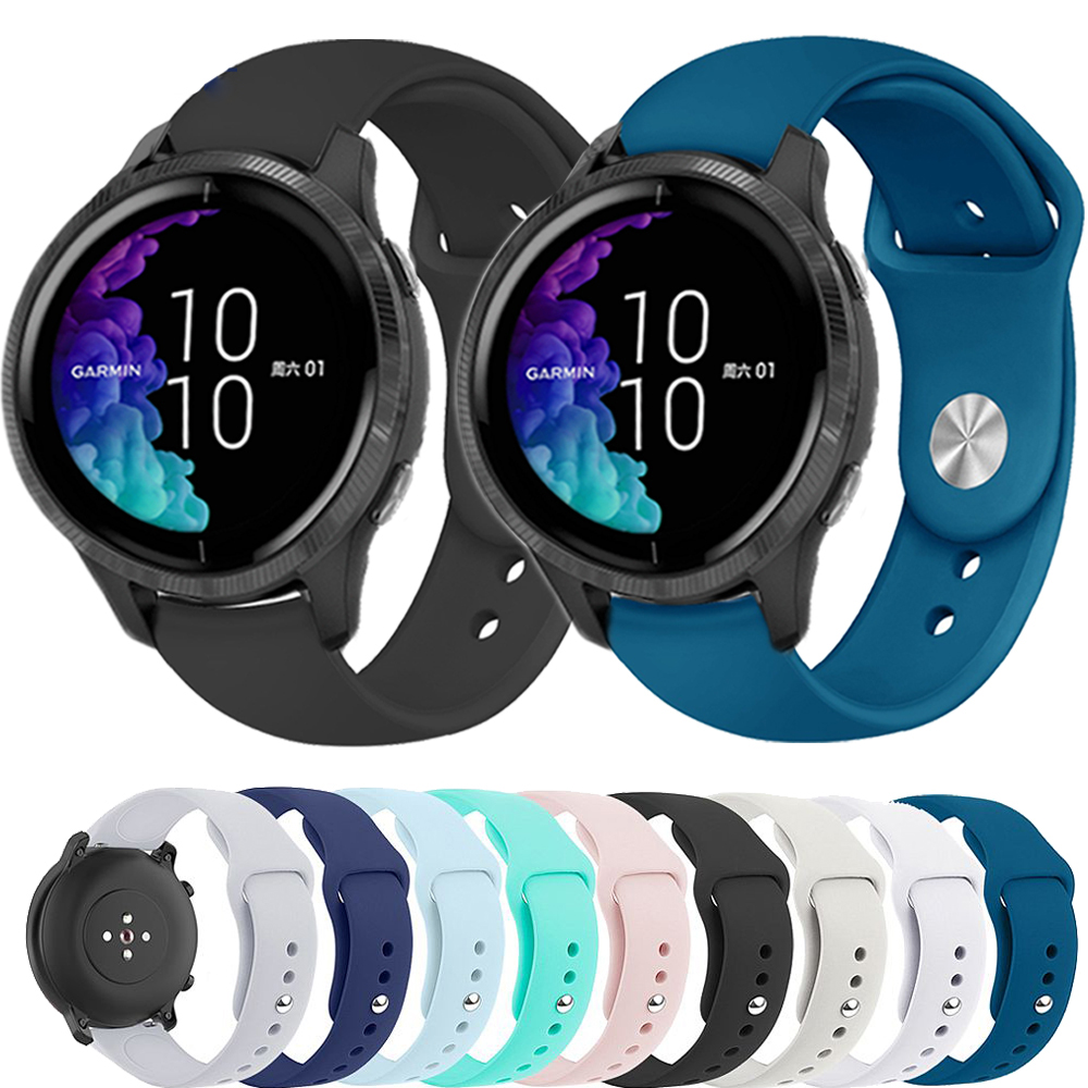 Strap For Garmin Venu Sports Silicone Band For GarminActive S / GarminMove 3 3S Luxe Style Watch Replacement Bracelet Watchband