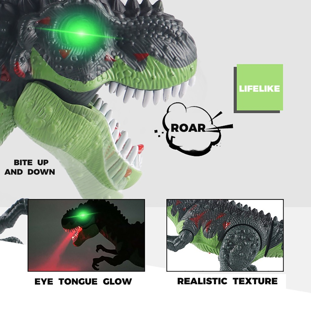 Controle remoto dinossauro robô andando brinquedo com