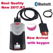 2021 أحدث إصدار 2017.R3 keygen على CD vd ds150e مع بلوتوث vci جديد ل delphis ds150e ماسح ضوئي تشخيصي