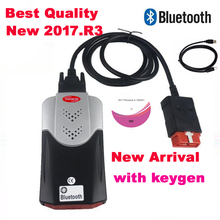 2021 newest  version 2017.R3 keygen on CD vd ds150e with bluetooth New vci for delphis ds150e diagnostic  scanner