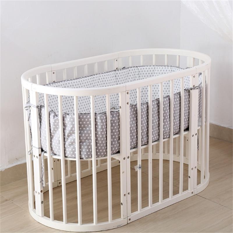 Nordic Stars Design Baby Bed Thicken Bumpers Crib Around Crib Protector Decor