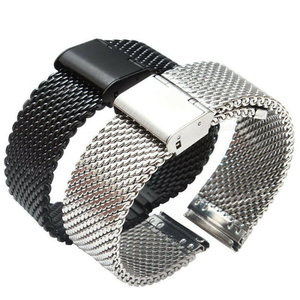Men Milanese Watch Band Link Bracelet Wrist Strap 20 22mm Mesh Stainless Steel Female 20mm 22mm Universal Milanese Watchband(China)