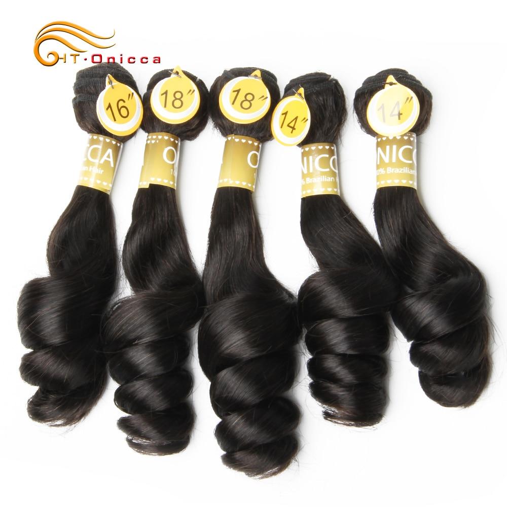 Funmi Hair Double Drawn 5pcs/Lot Egg Curl  Hair  Flexi /Pissy /Pixie Spring Curl   Bundles 1