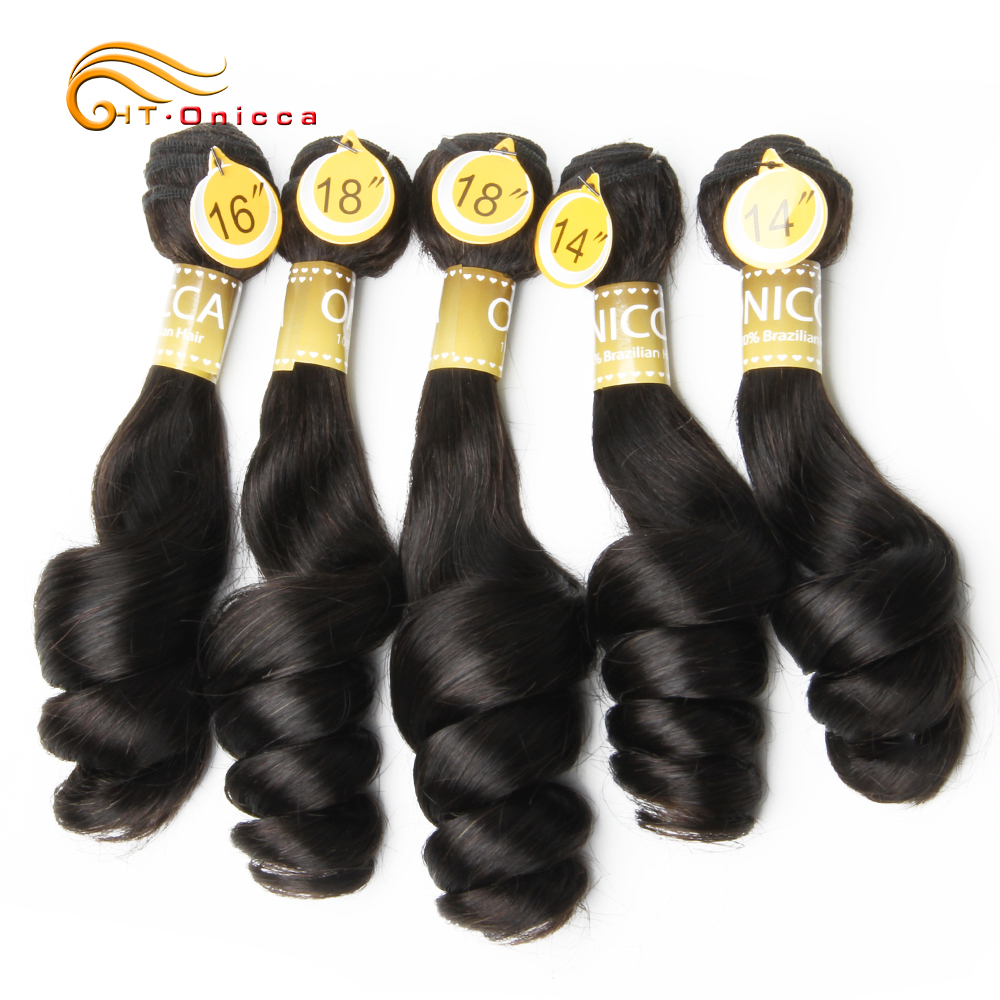 Brazilian Funmi Hair Double Drawn 5pcs/Lot Egg Curl Remy Hair Extension Flexi /Pissy /Pixie Spring Curl Human Hair Weave Bundles