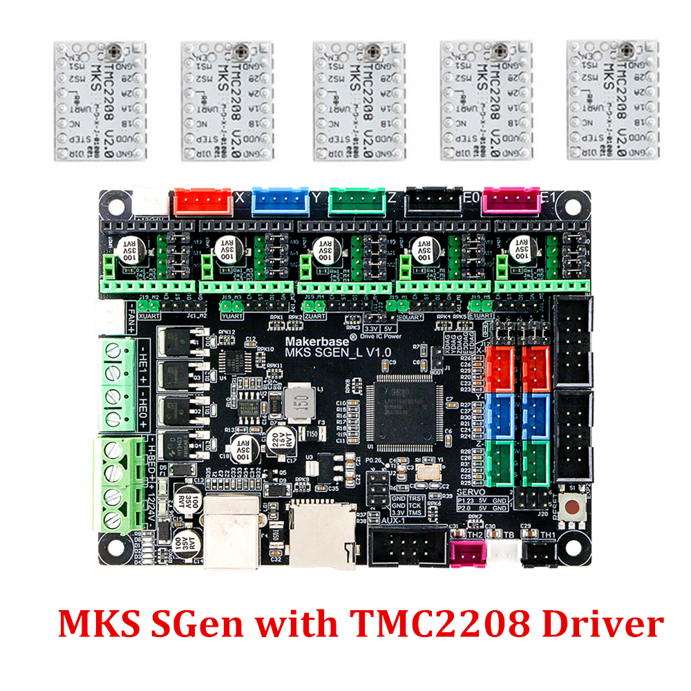 MKS SGen L 32Bit ARM Smoothieboard Compatible Marlin2.0 Smoothieware for LV8729 TMC2208 <font><b>TMC2130</b></font> Driver SKR V1.3 Support Uart/<font><b>SPI</b></font> image