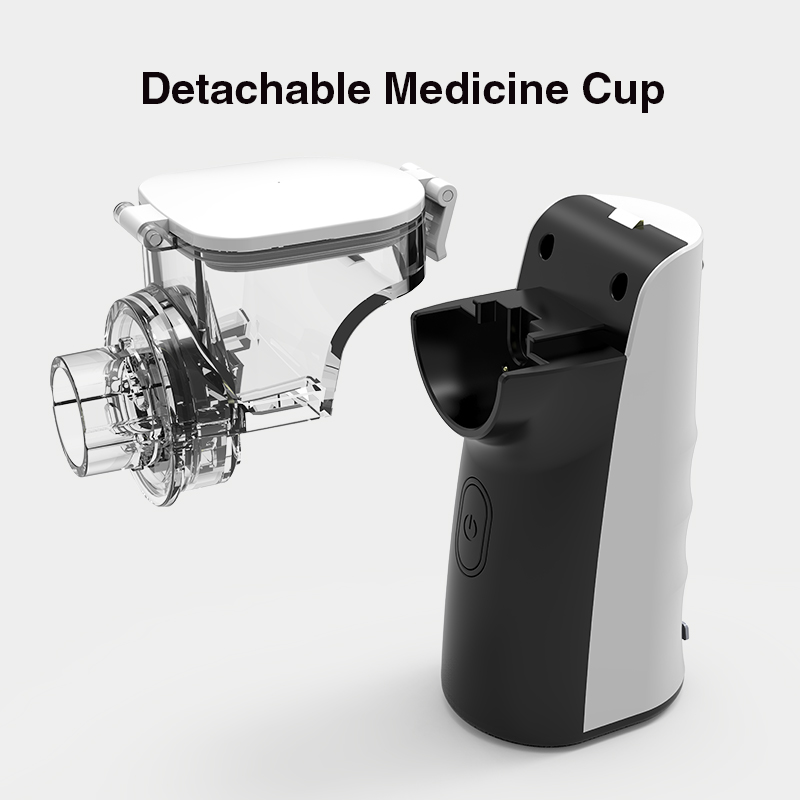 BOXYM Handheld  Medical Nebulizer Machine with Dual Wave Drive and Detachable Medicine Cup 1