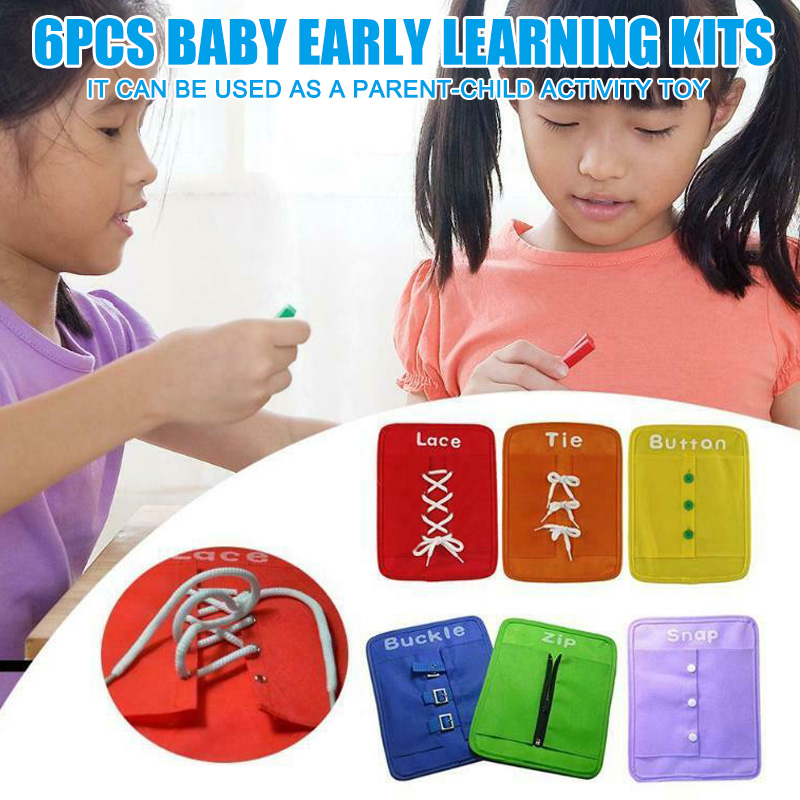Dressing Learning Boards Early Learning Kits Set Essential Skills Toys Set For Toddlers PUO88