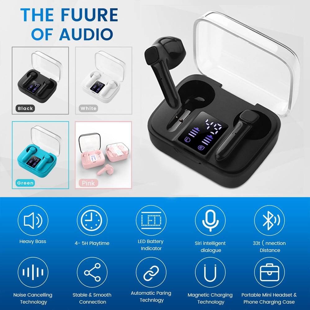 Модные наушники Tws Fone Bluetooth наушники E60 J6 с зеркальным дисплеем питания для Iphone Huawei
