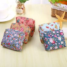 Women Coin Purse Cute Flower Printing Ladies Small Wallet Pocket Headset Line Pouch Credit Card Holder Lipstick Bag Girl Gift цена 2017