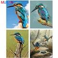 Полностью квадратная/круглая 5D алмазная картина, цветная Алмазная вышивка Kingfisher, вышивка крестиком, 3D Мозаика, украшение для дома, подарок ...