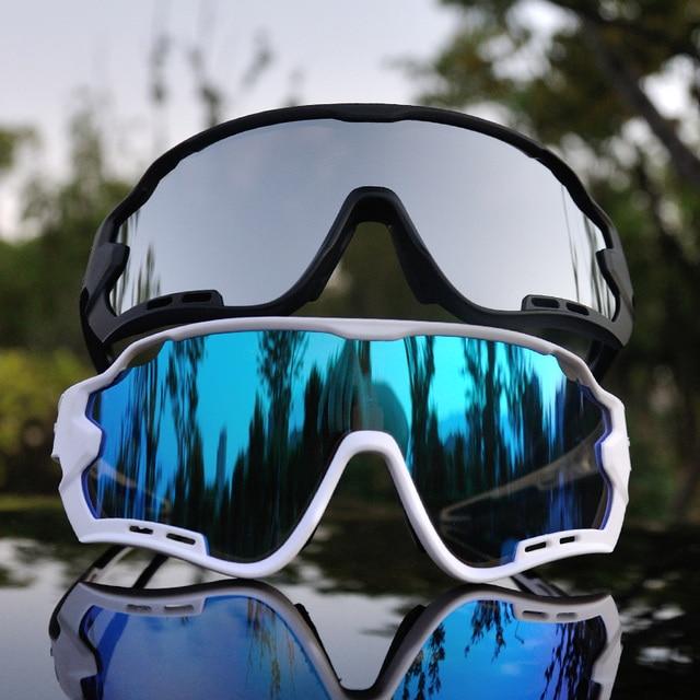 Acexpnm polarizado mountain bike ciclismo óculos de ciclismo esportes ao ar livre óculos uv400 4 lente ciclismo óculos de sol das mulheres dos homens 5