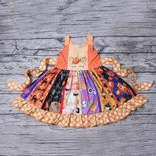 Summer 0-8 Year Baby Girl Dress Halloween Pumpkin Party Girls Tutu Dresses Toddler Kids Clothes vestido corto