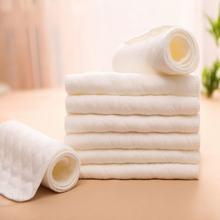 10 шт/лот Детские Моющиеся Многоразовые 3 х слойная ткань пеленки