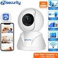 FHD 1536p 1080p домашняя охранная ip-камера, беспроводная радионяня с автоматическим отслеживанием, 3MP ИК-камера видеонаблюдения, Wi-Fi камера видеон...