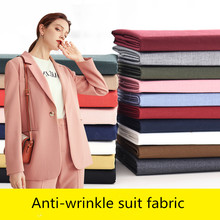 Uniform Fabric Pants Suit Dress Brocade Blending Sewing Anti-Wrinkle Polyester Pink Black